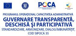 """Participare grup de lucru în cadrul proiectului  """"Guvernare transparentă, deschisă și participativă – standardizare, armonizare, dialog îmbunătățit"""""""
